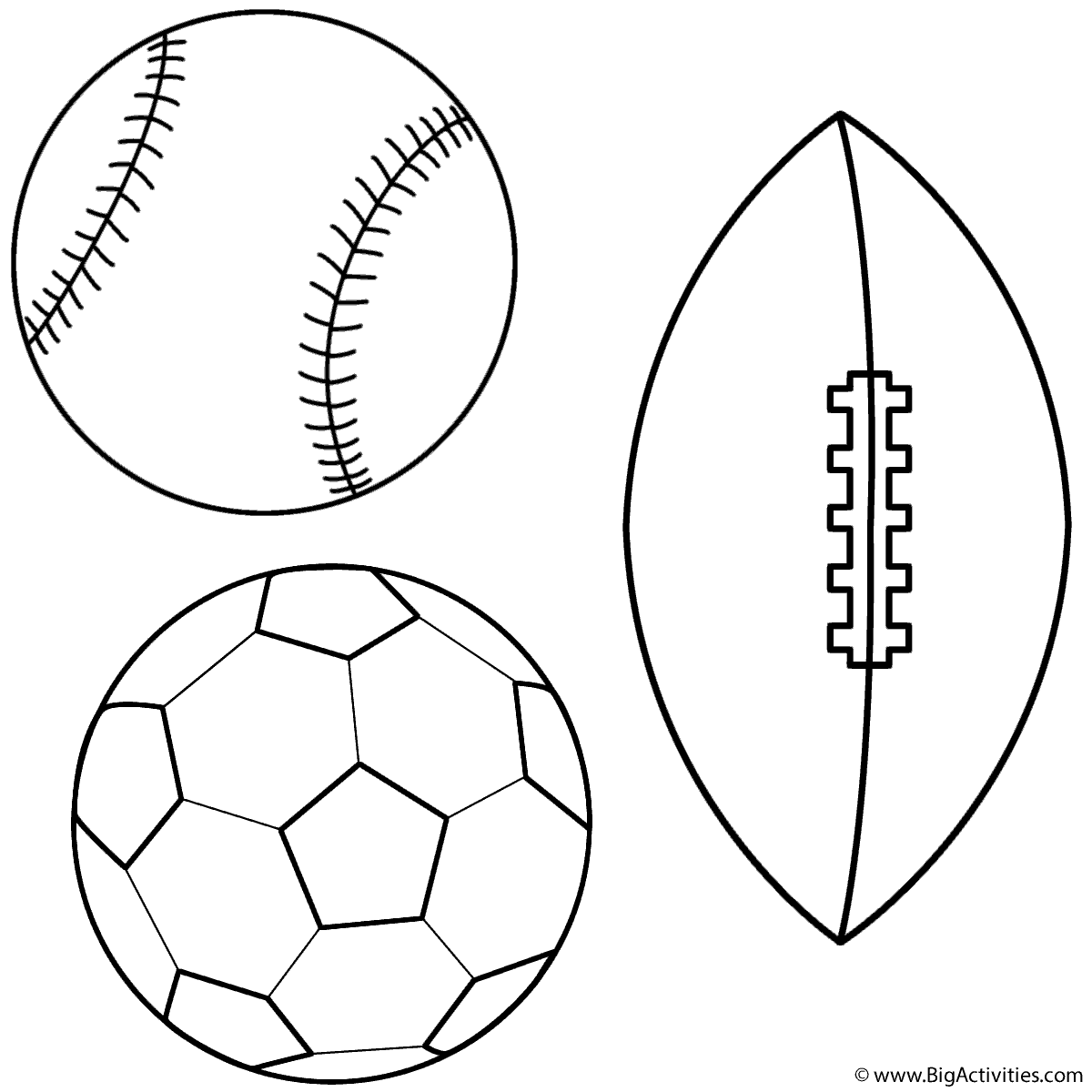 Baseball Soccer Ball And Football
