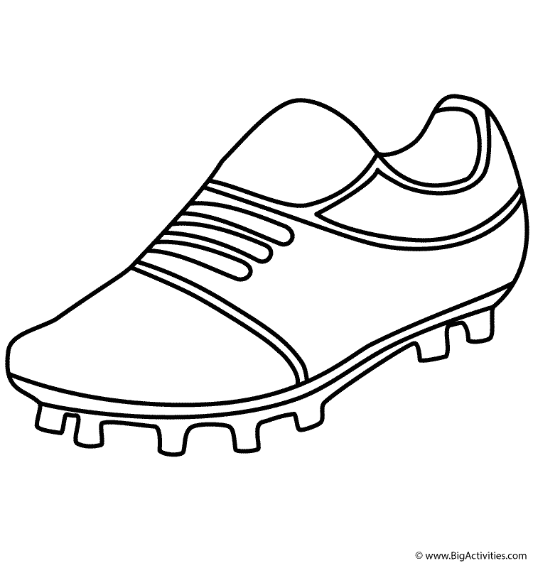 Soccer Shoe Coloring Page Sports