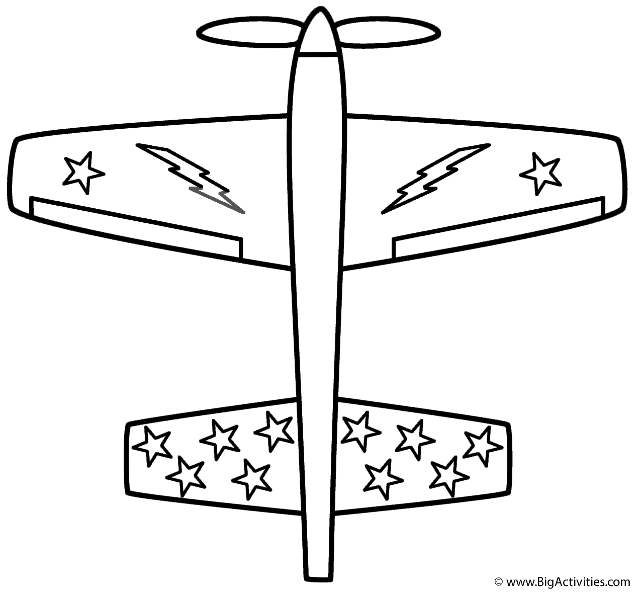 Airplane With Stars