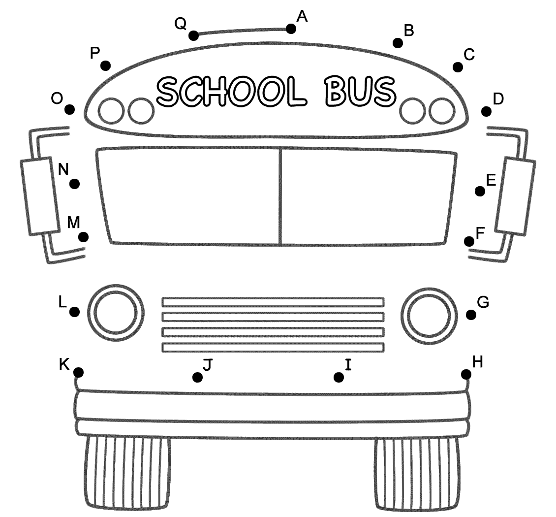 School Bus Fr T C Nect Dots By C Pit L Letters B Ck To