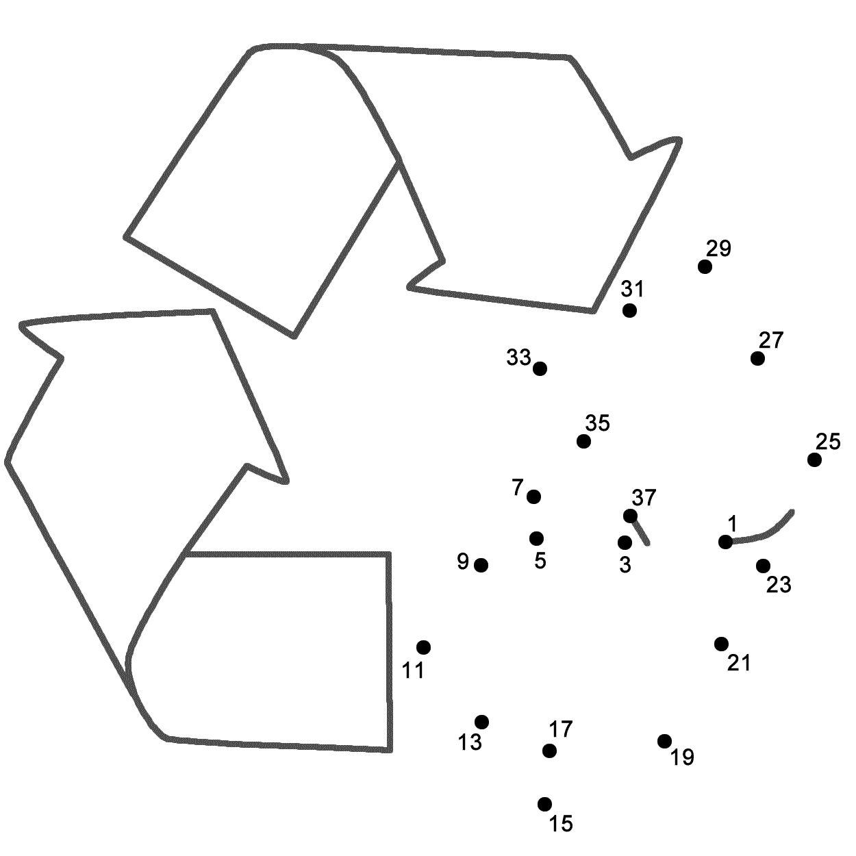 Recycle Connect The Dots Count By 2s Starting At 1