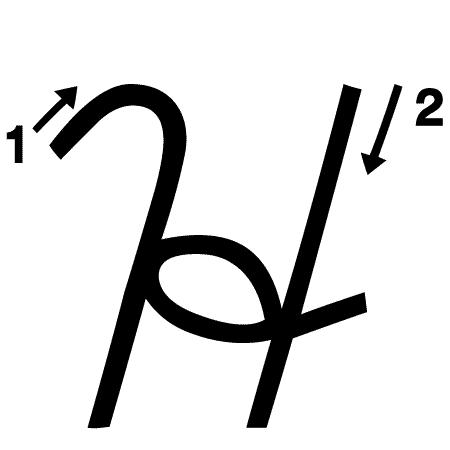 Uppercase H Handwriting Worksheet (trace 1 write 1)