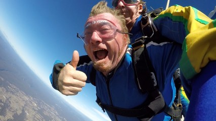 Video: Big Angry Trev goes Skydiving!