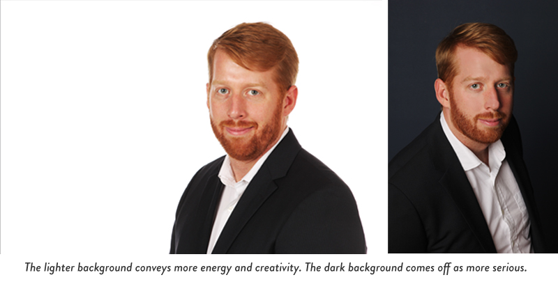 how to choose a background for your headshot