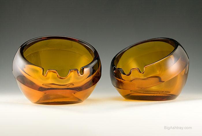 Vintage Glass Ashtray