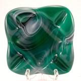 Vintage slag glass ashtray made by Imperial Glass, USA, circa 1960's - 1970's.