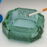 Gorgeous Bohemian Art Deco Alexandrite ashtray by Heinrich Hoffmann made by hand circa 1930 - 1940's.