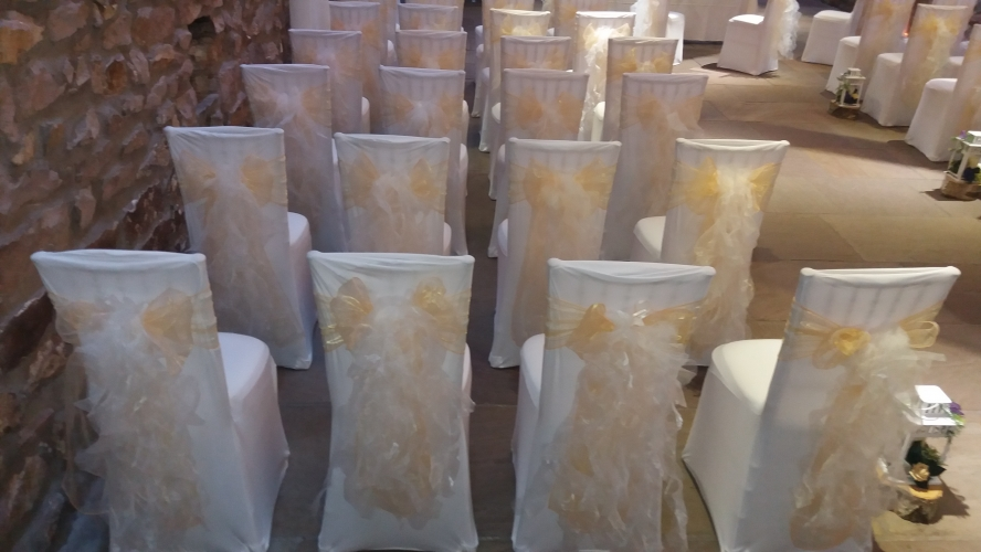 champagne banquet chair covers and stool heights the big balloon company leigh lancashire wedding gold ruffle sashes at tithe barn clitheroe