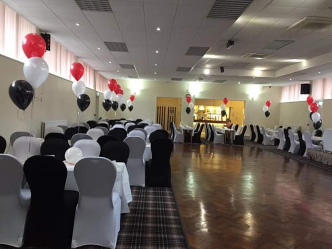 chair covers hire bolton orange recliner the big balloon company leigh lancashire wedding mix of black and white