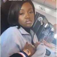 Davido Presses Chioma's Breasts In A Plane (Video)