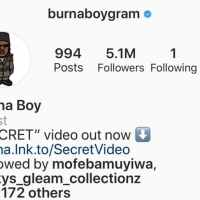 Burna Boy Unfollows Everyone On IG