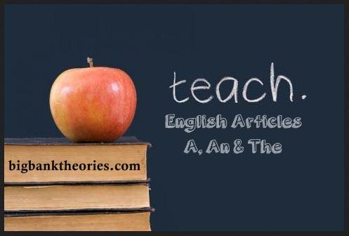 Contoh Soal Tentang Penggunaan Articles