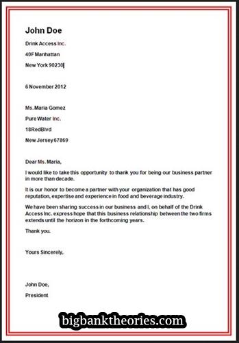 Pengertian jenis dan contoh letter dalam bahasa inggris contoh business letter stopboris Image collections
