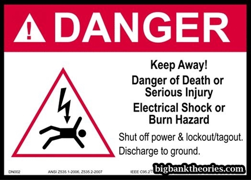 Contoh Danger Sign
