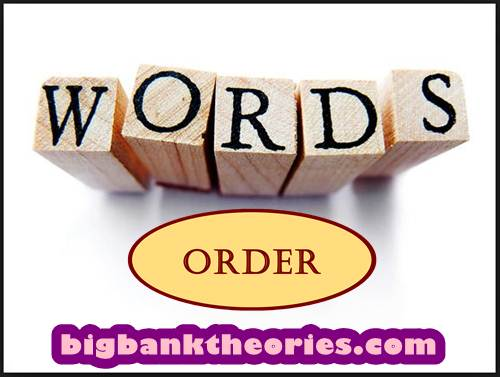 Pengertian Word Order
