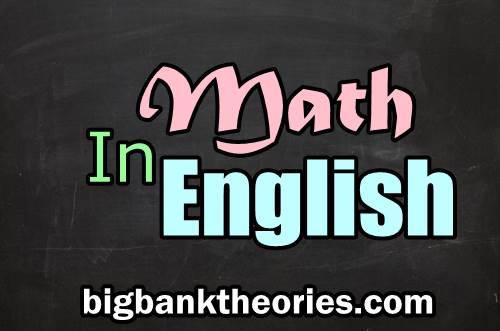 Operasi Matematika Dalam Bahasa Inggris