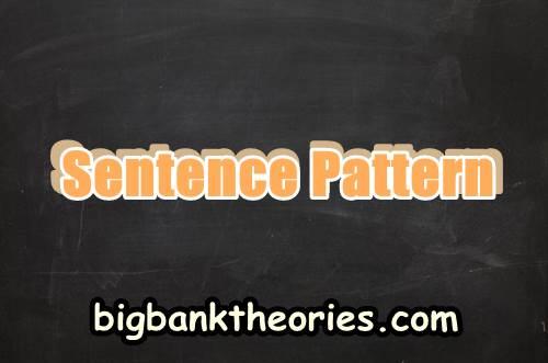 Contoh Kalimat Sentence Pattern