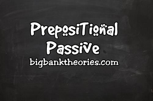 Contoh Prepositional Passive