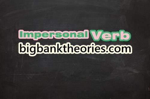 Contoh Kalimat Impersonal Verb