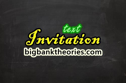 Contoh Invitation Dalam Bahasa Inggris