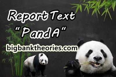 Contoh Report Text Pendek Tentang Panda Dan Terjemahannya