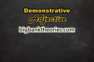 Demonstrative Adjective Dalam Bahasa Inggris Dan Contohnya