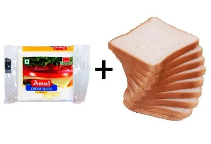Buy Bb Combo Fresho Sandwich White Bread 400gm Amul Cheese Slices