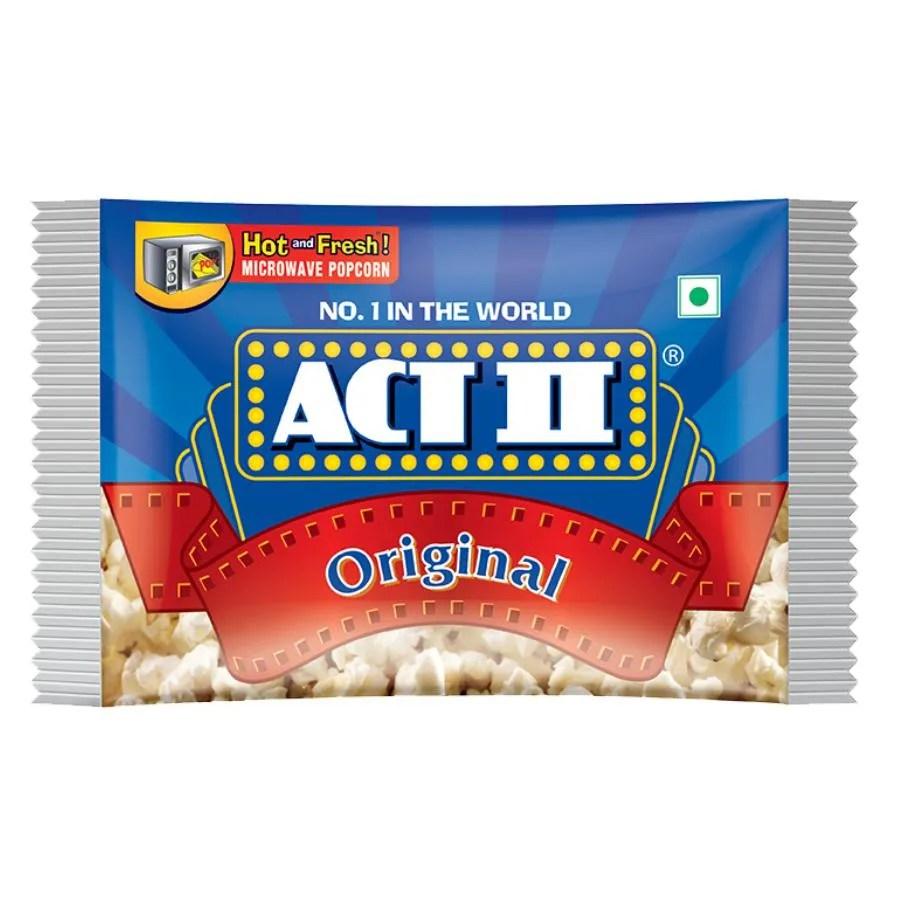 act ii microwave popcorn original 33 g pouch