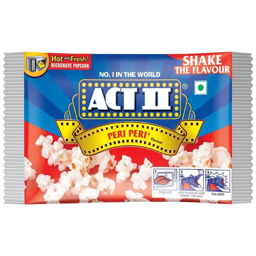 act ii microwave popcorn peri peri 106 g