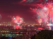 July 4th Fireworks on San Diego Bay Big Bay Boom