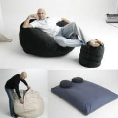 Foam Chair That Turns Into A Bed Plastic Adirondack Chairs And Tables Bean Bag Double