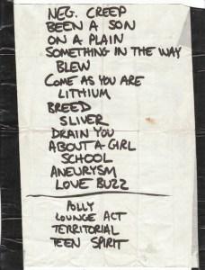 Nirvana Play List