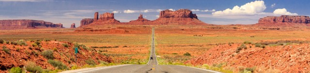 lege weg richting monument valley