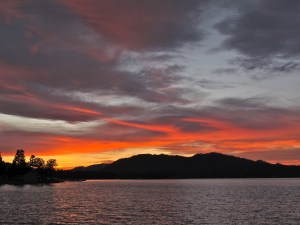 Sunset in Big Bear Lake