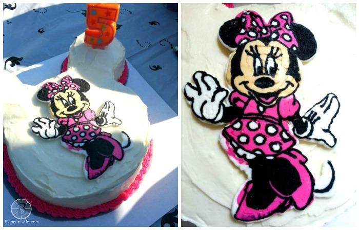 Minnie Mouse Frozen Buttercream Transfer Birthday Cake