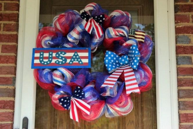 4th Of July Deco Mesh Wreath Tutorial Memorial Day