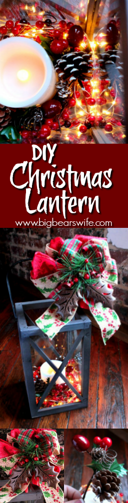 Diy Christmas Lantern Tutorial How To Decorate A Christmas Lantern Big Bear S Wife
