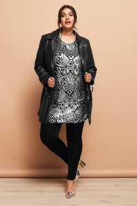 Geometric Patterned Sequin Tunic