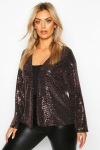 Metallic Collarless Jacket