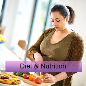 A woman prepares healthy food - research and guidelines on diet and nutrition