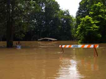 repair fix flooded yard or garden