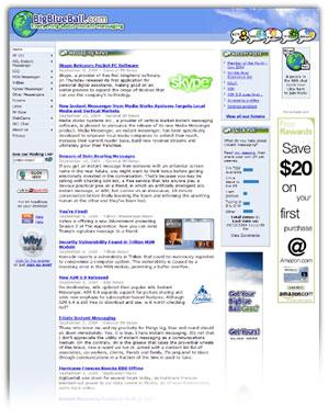 BigBlueBall home page