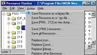 Save as a binary file
