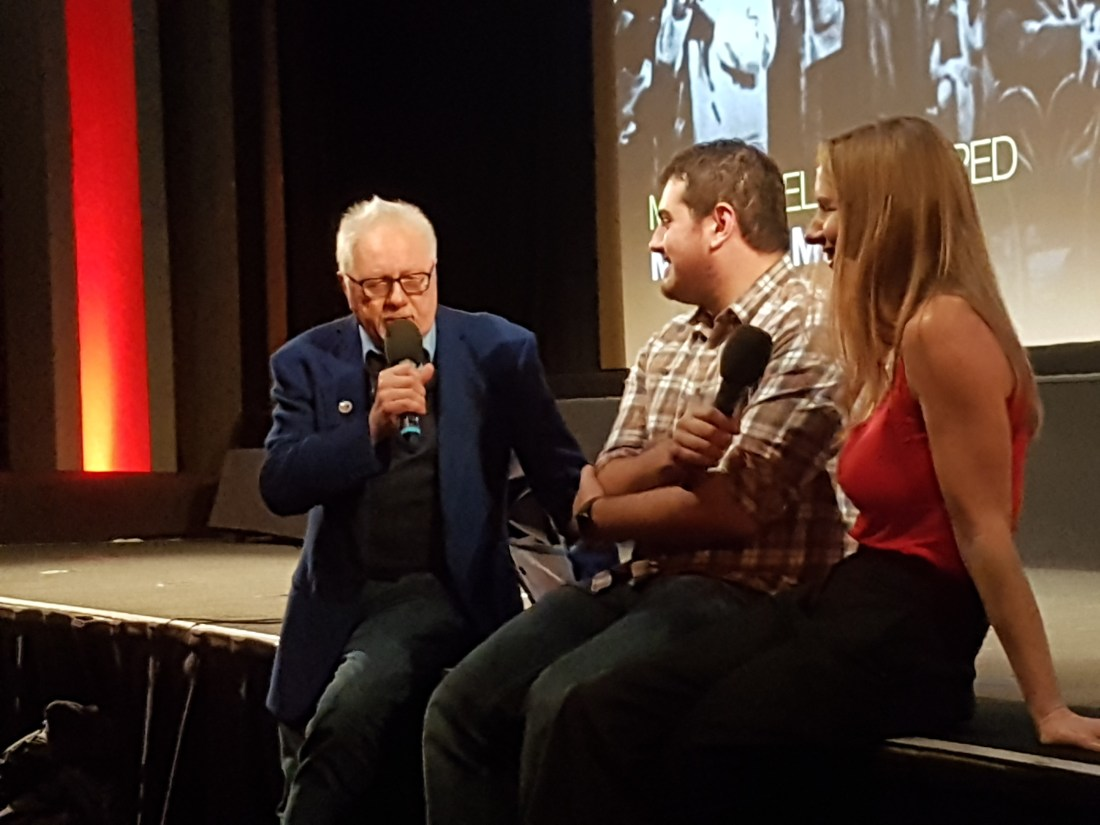 Dick Fiddy interviewing Anne Marie Walsh who was there with her fellow animator