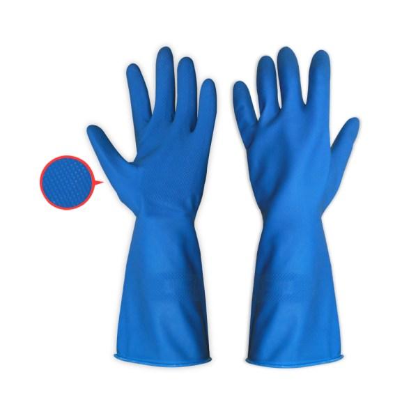 ถุงมือแม่บ้านEAGLEสีน้ำเงิน