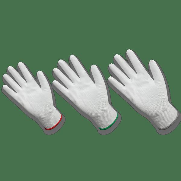ถุงมือผ้าโพลีเอสเตอร์เคลือบPU