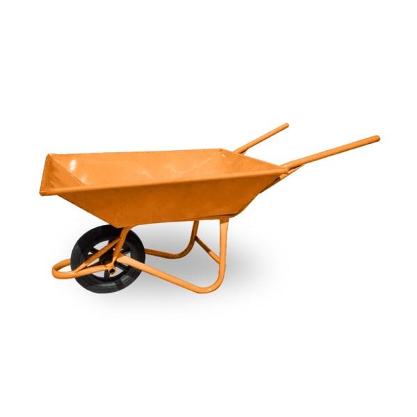รถเข็นปูนล้อเดี่ยวล้อPVCรุ่นหนาพิเศษสีส้ม
