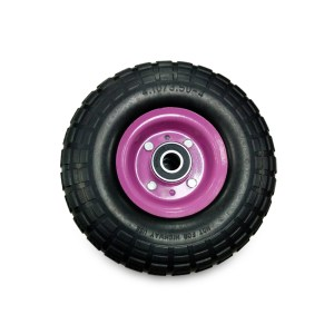 ชุดอะไหล่ล้อรถเข็นล้อPU10นิ้ว(BZ-018)สีชมพู