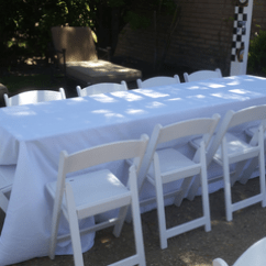 Round Wooden Chair Wayfair Rocking 8 Ft Rectangular Tables For Rent | Wedding Banquet Los Angeles, Ca - Big Blue ...