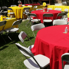 Rent Tablecloths And Chair Covers Striped Wingback Linens For Big Blue Sky Party All Listed Prices On Rental